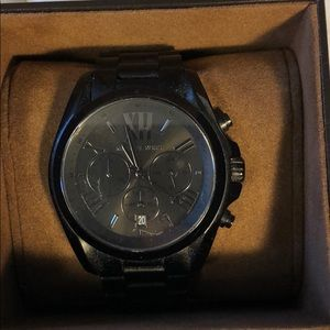 Blacked out Michael Kors watch